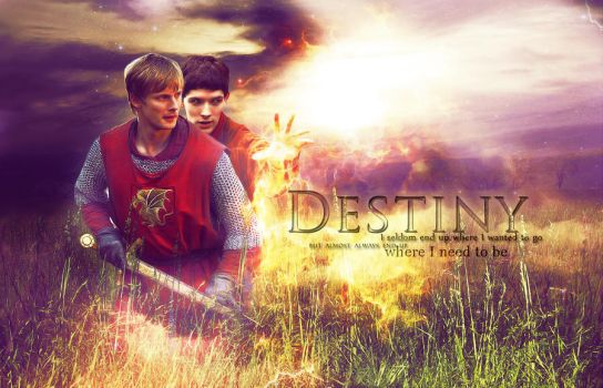 Destiny - Merlin and Arthur by magic-ban