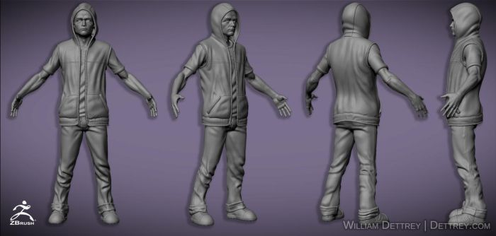 BreakingInFamous ZBrush BasicMat by WilliamDettrey