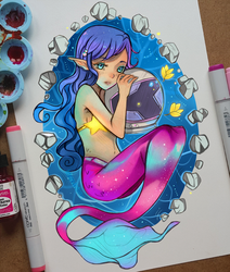 +A Mermaid and an Astronaut+ by larienne