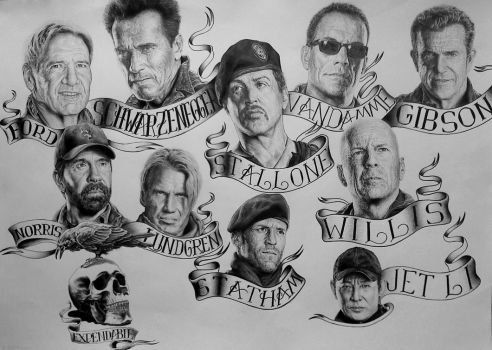 Expendables poster by Damyanov