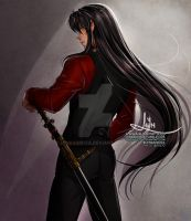 DOGS AND SWORDS Human Inuyasha by LenBarboza