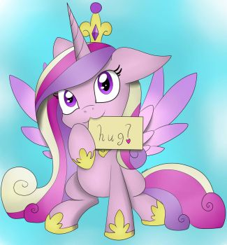 Cadance Wants Hugs by sorasarah212