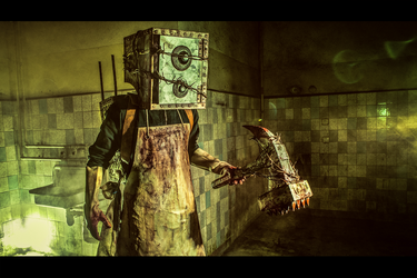 The Keeper (Boxman) Cosplay (from The Evil Within) by Corroder666