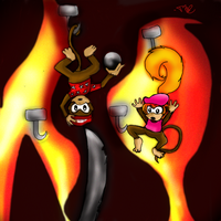 Boss Battle:Diddy Kong's Quest by YerBlues000