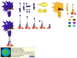 Character Builder-Turbo Mecha Sonic by Kphoria