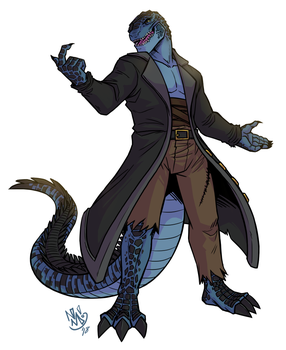 Commission - Cptn Gojira by spookydoom