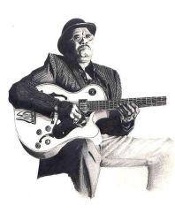 Blues Player by spvaughan