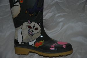 Inuyasha wellington-right boot by Caranth
