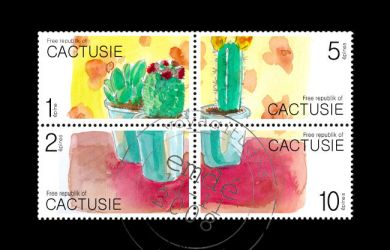 stamps of Cactusie by gribouille