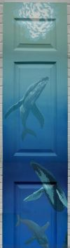 humpback whales on door panel by Lucidflows