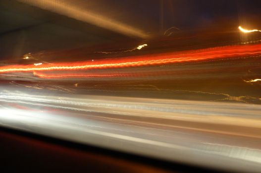 fuzzy light on the road by nicolapin