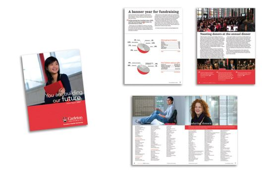 Carleton U Donor Report. by infiltrated