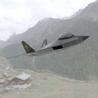F-24A Over a Field by VanishingPointInc