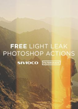 Free Light Leak Photoshop Actions and Filters by filtergrade