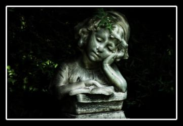 Statue in the garden by D-iesel
