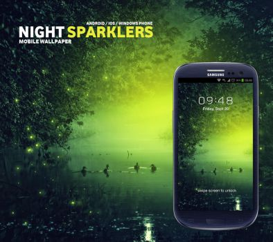 Night Sparklers Mobile Wallpaper by Martz90