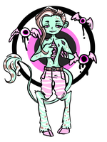 [CLOSED] Peppermint Demon by ghosty-doll-adopts