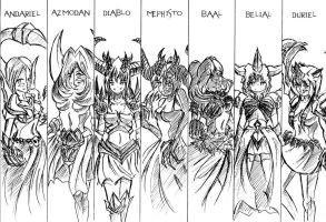 7 demons lord [Diablo] by Kattapol