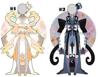 sun and moon princess outfit adoptables closed by AS-Adoptables