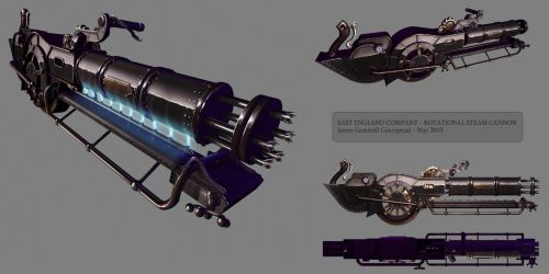 Rotational cannon steampunk by DESTRAUDO