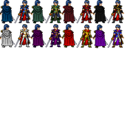 Marth palette swaps by thekrillmaster