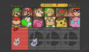 Super Smash Bros character select by TyreseL