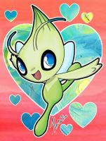 Celebi (Commission) by KaiNoKimi