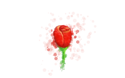 Just a rose by psychoduck