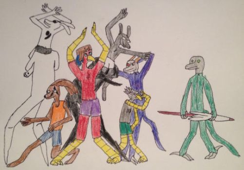 drew the squad by SCIFI-RICE