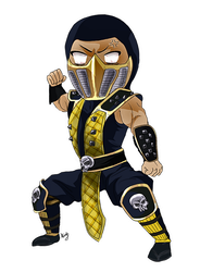 Commission Scorpionlover chibi by DiruLiCiouS