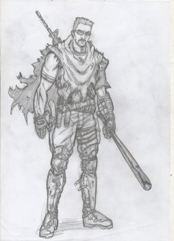 Post apocalyptic warrior by IMPOSI