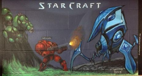 StarCraft Master Mural by DaEliminator