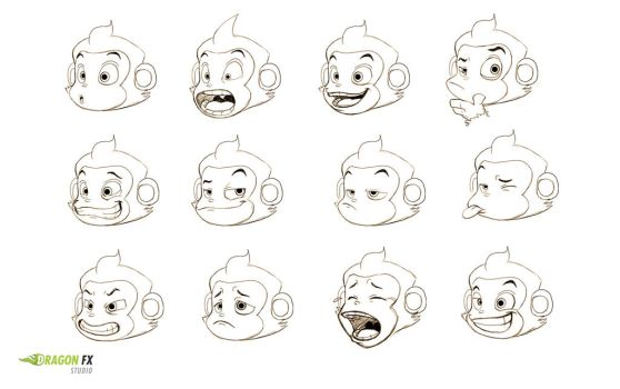 Monkey  facial expressions by X-Factorism
