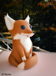 Cute Sandstone Fox 3D Print! by Shastro