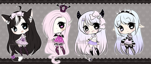 Chibi Mix Adoptables 16 :: CLOSED :: by Hunibi