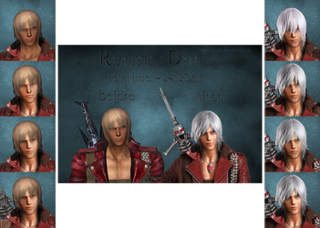 Realistic Dante. Before - After by Taitiii