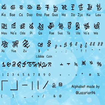 A'abae -- Official alphabet of Bub-Chi by Lazarian96