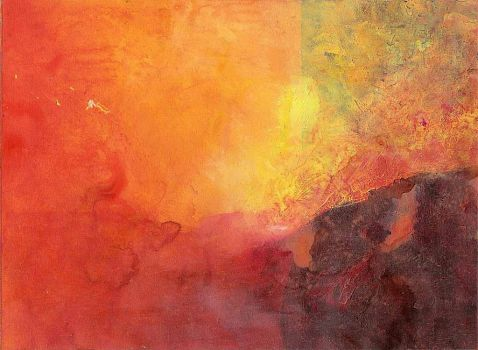 red abstract landscape by kardeval