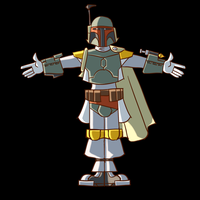 Cartoony Boba Fett T-pose by gnomKOLIN