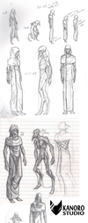 Sketchdump - 17/02/2014 (SCP 049) by Kanoro-Studio