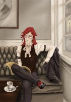 waiting for his case by SallyNevermore