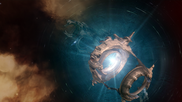 Eve Online - Ruined Stargate by Vollhov