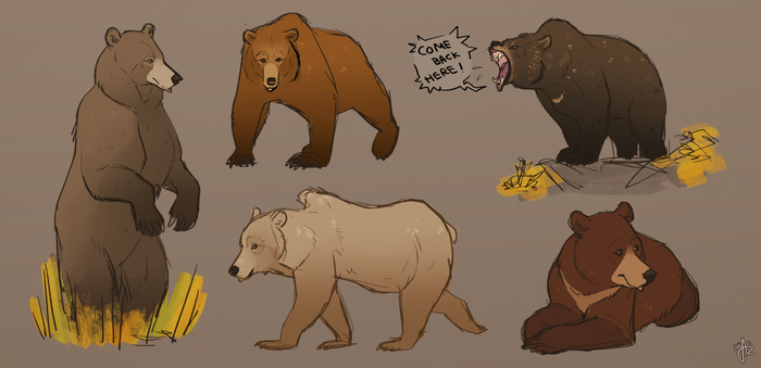 Grizzly bears by Azeare