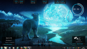 Blue Wolf Rogers1967 Rainmeter by Rogers1967