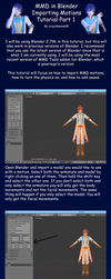 MMD in Blender 2.79 Importing Motions Tutorial by crazy4anime09