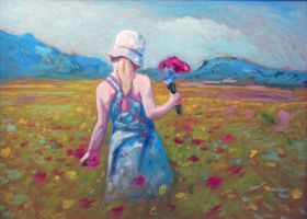 Flower picking by Stonoberger