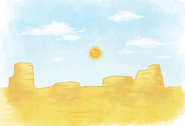 A Desert - Painting Practice by ChrisL21