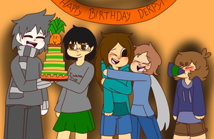 re-draw Happy (late) Birthday Derpy by LuckyDestinyHeart