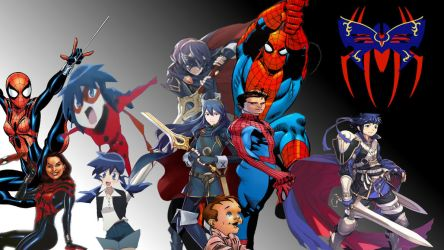 Spider-man and Lucina and their kids by kongzillarex619