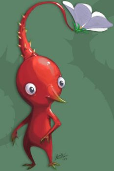 Red Pikmin by deadlyflume